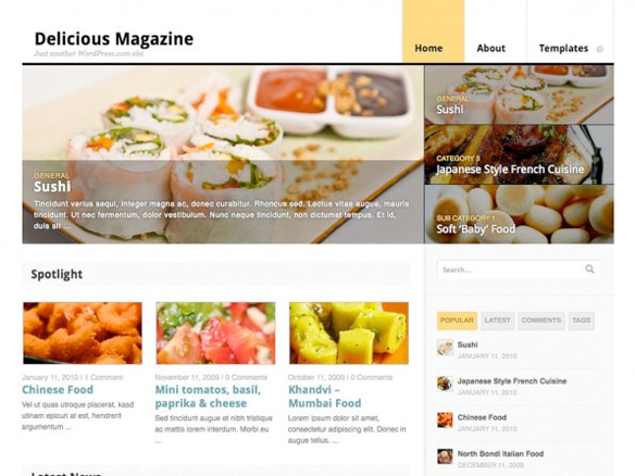 Wordpress Theme Delicious Magazine